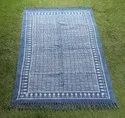 Cotton Hand Block Printed Rugs & Durries
