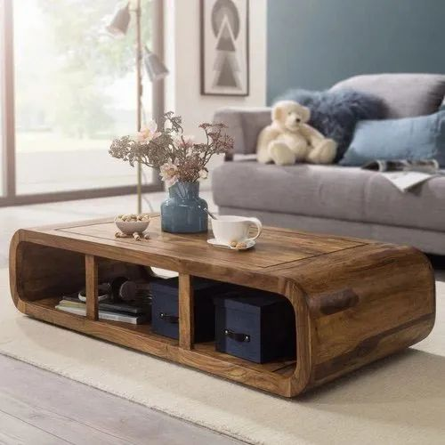 Wooden Modern Solid Wood Coffee Table For Home Size 4x2 Rs 12000 Piece Id 21975323662