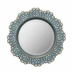 Round Decorative Glass Mirror, Thickness: 1 inch