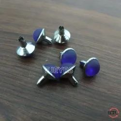 10mm Brass & Stone Dome Pearl Rivets Purple
