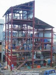 Oil Refinery Plant, for Palm Fruit Oil, Capacity: 5 - 500 ton/day