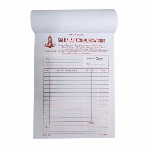 printed bill book at rs 5 piece ber sarai new delhi id