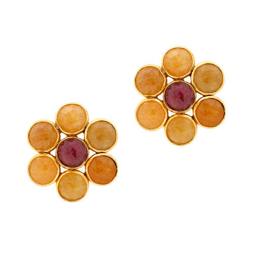 red large lewis ruby gold moda by natural renee loading operandi earrings