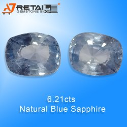 Unheated And Untreated Blue Sapphire