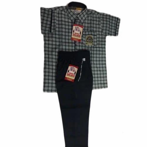 Cotton Summer Half Sleeves School Uniform Set, Size: Medium