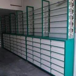 Mild Steel Medical Shop Rack