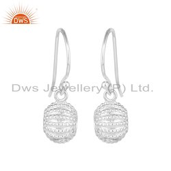 Handmade 925 Sterling Fine Silver Womens Designer Earring Jewelry