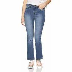 Denim Faded Ladies Boot Cut Jeans, Waist Size: 28-32 Inch