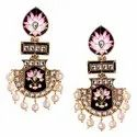 Kundan And Meenakari Earrings