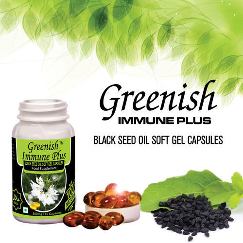 Greenish Baraka Black Seed Oil Soft Gel Capsule, 30 & 60