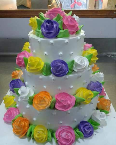 Birthday Cakes Cake With Flower Designs Service Provider From Mandsaur