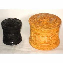Wooden Storage Round Box