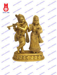 Designer Base Standing  Lord Radha Krishna Statue
