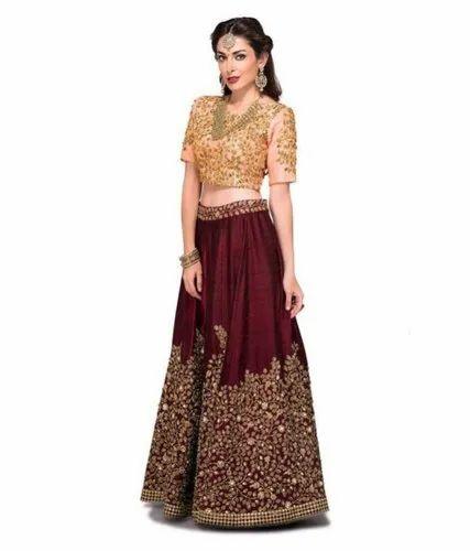 b58f77dd5e0 Indian Traditional Wear Semi Stitch Lehenga Choli. at Rs 702 /piece ...