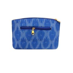 Printed Cotton Blue Ikkat Sling Bag, For Casual Wear