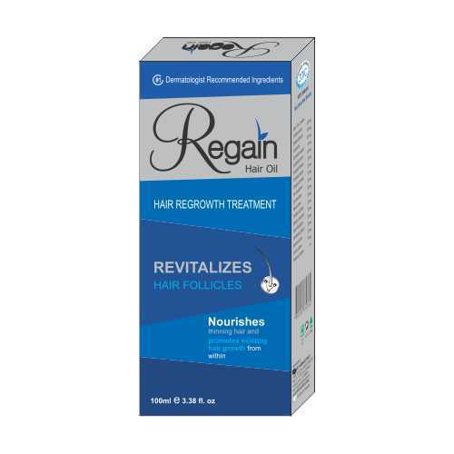 Regain Liquid Herbal Hair Oil, Pack Size (milliliter): 100 ml, Packaging Type: Box