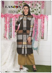 7002 Designer Woolen Kurtis