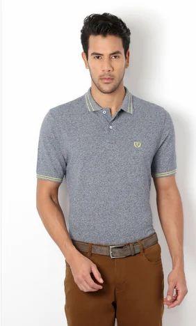 b719e5722 T-Shirts For Men - Van Heusen Blue T Shirt Authorized Wholesale ...