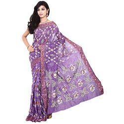 Bandhej Lavender Saree