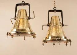 Brass Hanging Ship Lamp