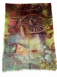 Silk Pashmina Print Scarves