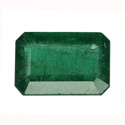 Long Emerald Cut Lustrous Genuine Zambian Emerald