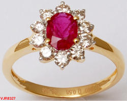 Diamond Ruby Gold Ring
