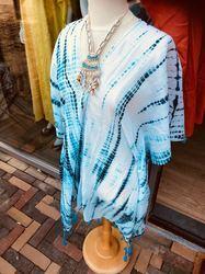 Cotton Tie Dye Tunic with Tassels