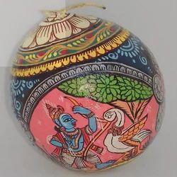 Pattachitra Coconut, Size: 4x 4