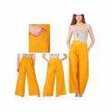 Ladies Yellow Palazzo Pants