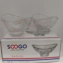 Soogo Serving Glass Radius Bowl, Set Contains: 2 piece, Packaging Type: Box