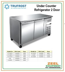 UCR Stainless Steel Under Counter Refrigerator 2 Door, Model Name/Number: Stf 2100 Tn, Number Of Shelves: 4
