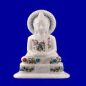 Marble Inlay Lord Buddha Statue