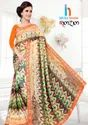 RimZim Printed Less Border Saree