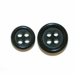 Black Round 42mm Fashion Polyester Button, For Garments, Packaging Type: Packet