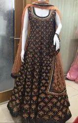 Heavy Bridal Wedding Embroidery Anarkali Suit