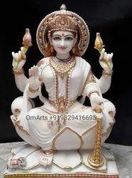 pure white marble saraswati statue
