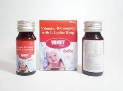 VONVIT DROP (Vitamin B-Complex With L-Lysine Drops)