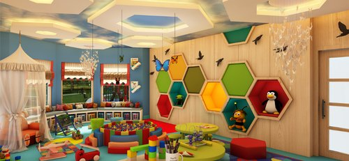Play School Interior Designing, 3d Interior Design Available : Yes