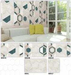 6036 (HA, HB, HC, L, LF) Hexa Ceramic Digital Wall Tiles