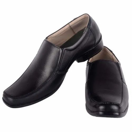 9b16eaac3df Men Black Leather Semi Formal Shoes
