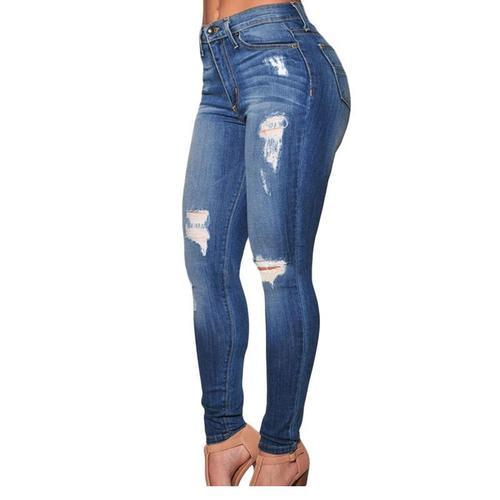 396f4622adb Stretchable Blue Girls Skinny Jeans