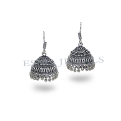 Big Silver Antique Jhumka