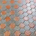 Orange, Grey Oyster Paver Block