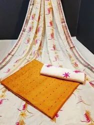Pure Cotton Embroidered Designer Suits