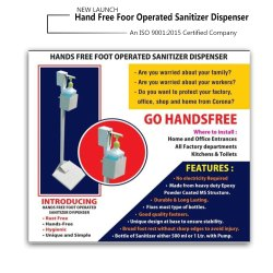 Hand Free  Foot Operated Sanitizer Dispenser Machine