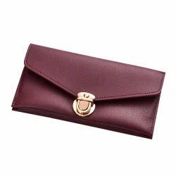 Rexine Maroon Ladies Wallet