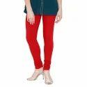 Red Cotton Ladies Leggings, Size: Small, Medium, Large