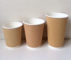 Vertical Ripple Paper Cup Family