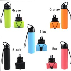 silicon foldable sport bottle